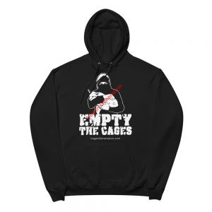 men hoodie empty the cages